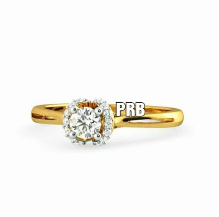 Anel de noivado em ouro 18k  com 68 pontos de diamantes - CÓDIGO 030