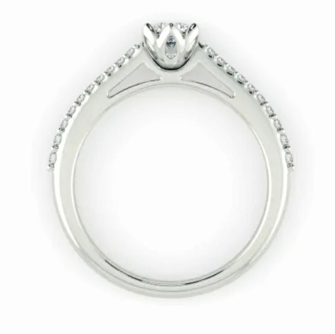 Anel de noivado em ouro 18k  com 68 pontos de diamantes - CÓDIGO 043