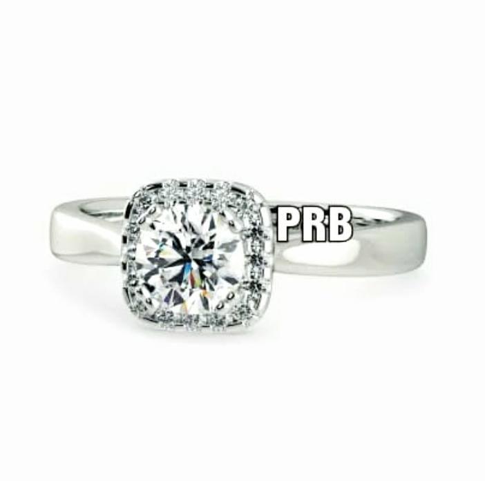 Anel de noivado em ouro 18k  com 75 pontos de diamantes - CÓDIGO 025