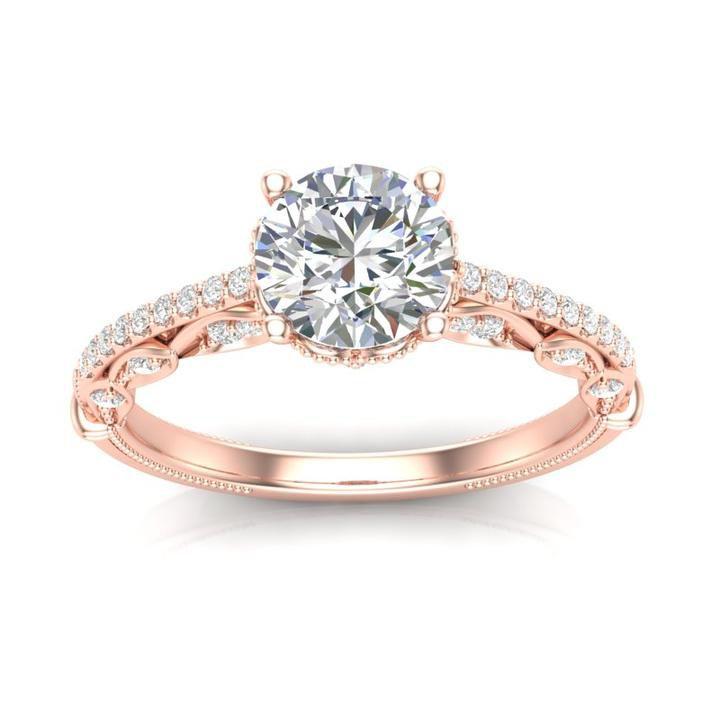 Anel de noivado em ouro 18k  com 93 pontos de diamantes - CÓDIGO 019A