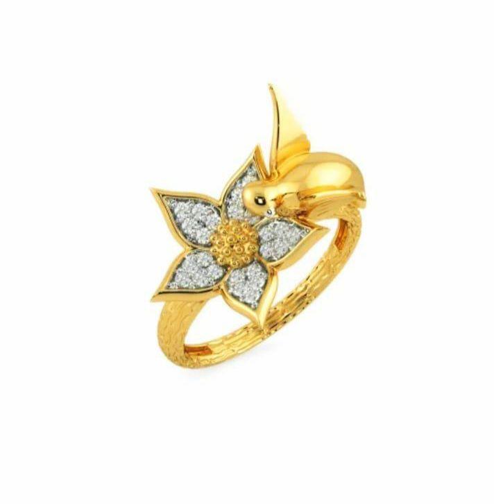 Anel em ouro 18k com diamantes - CÓDIGO 06