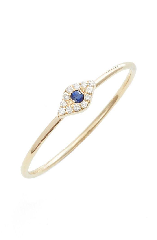Anel em ouro 18k com diamantes e pedra preciosa safira natural - CÓDIGO 024b
