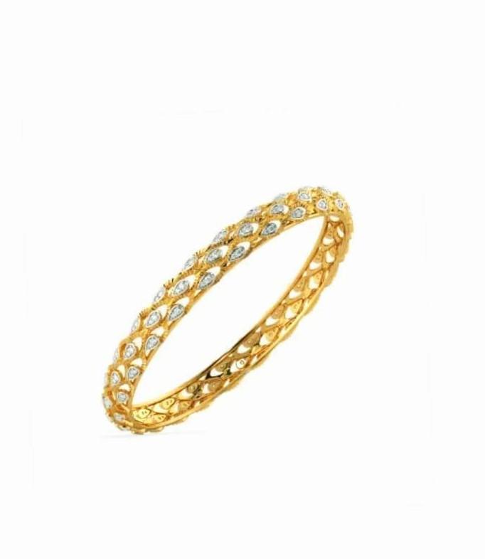 Bracelete em ouro 18k e diamantes - CÓDIGO - 01