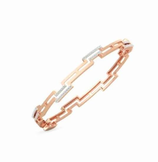 Bracelete em ouro 18k e diamantes - CÓDIGO - 02