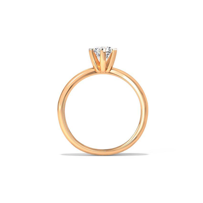Anel de noivado em ouro 18k  com 1 diamante de 40 pontos - CÓDIGO 0114