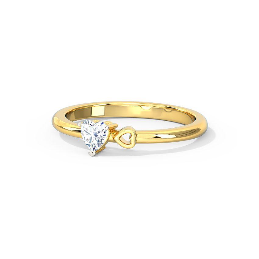 Anel de noivado em ouro 18k  com 20 pontos de diamantes - CÓDIGO 045A