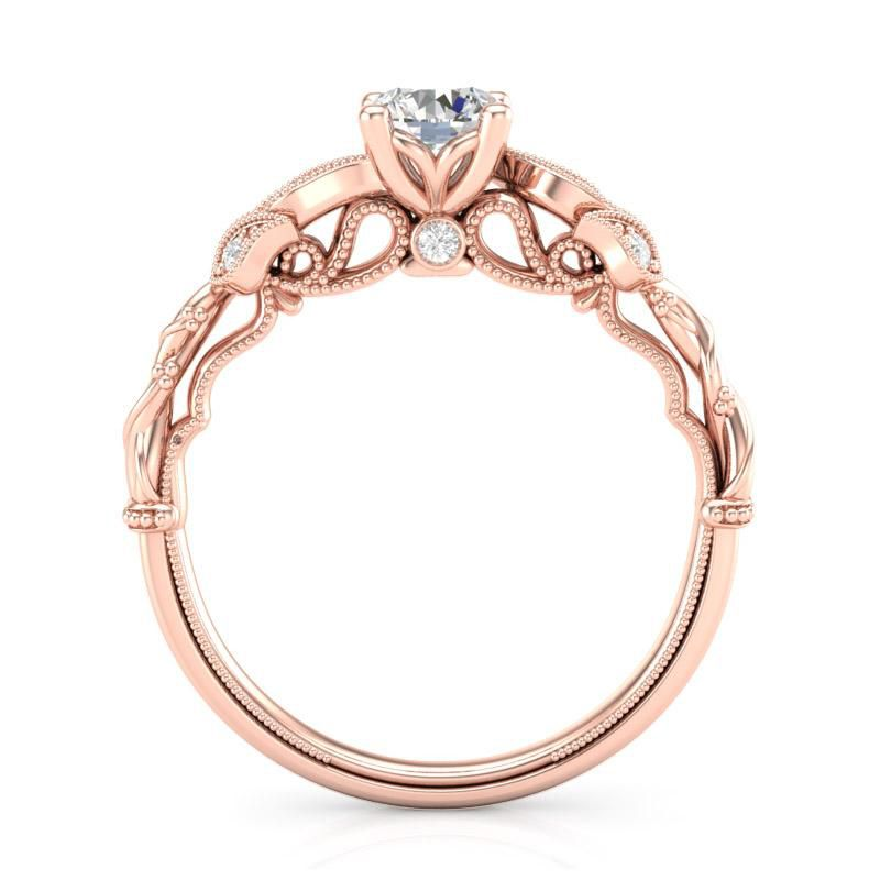 Anel de noivado em ouro 18k  com 50 pontos de diamantes -  CÓDIGO 04