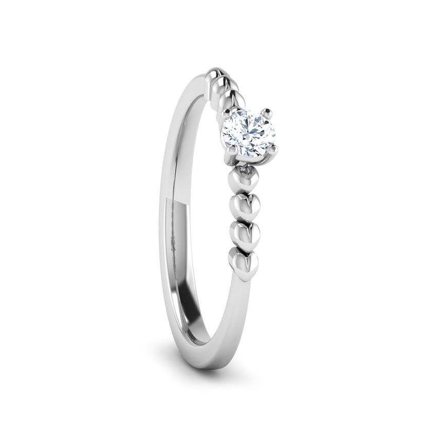 Anel de noivado em ouro 18k  com 15 pontos de diamantes - CÓDIGO 075A
