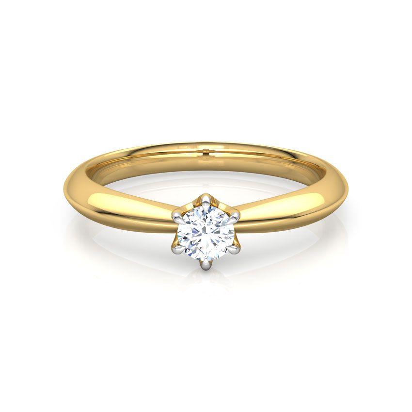 Anel de noivado em ouro 18k  com 15 pontos de diamantes -  CÓDIGO 078A