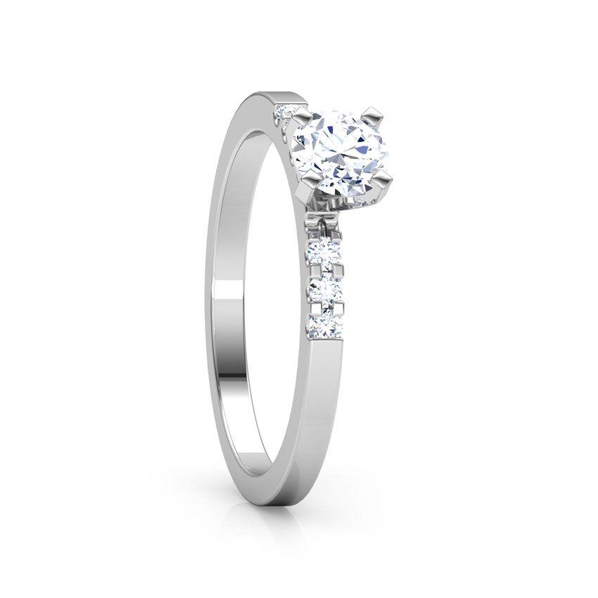Anel de noivado em ouro 18k  com 21 pontos de diamantes - CÓDIGO 07