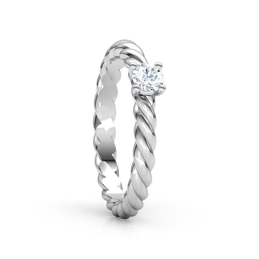 Anel de noivado em ouro 18k  com 15 pontos de diamantes - CÓDIGO 076A