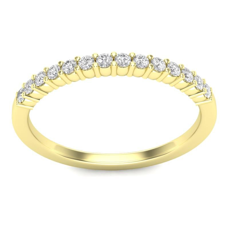 Meia Aliança em ouro 18k com 28 pontos de diamantes - CÓDIGO - AP1