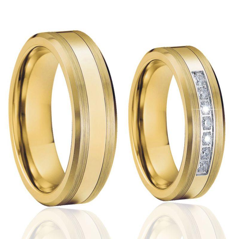 Par de alianças  em ouro 18k e diamantes - CÓDIGO - ALI23