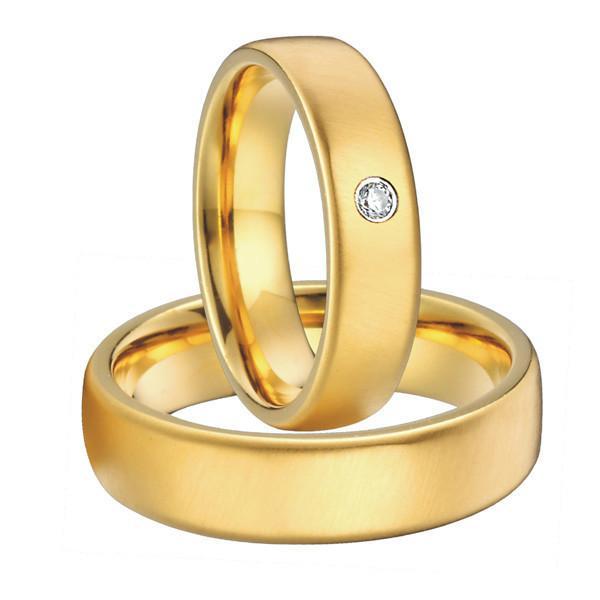 Par de alianças  em ouro 18k e diamantes - CÓDIGO - ALI24