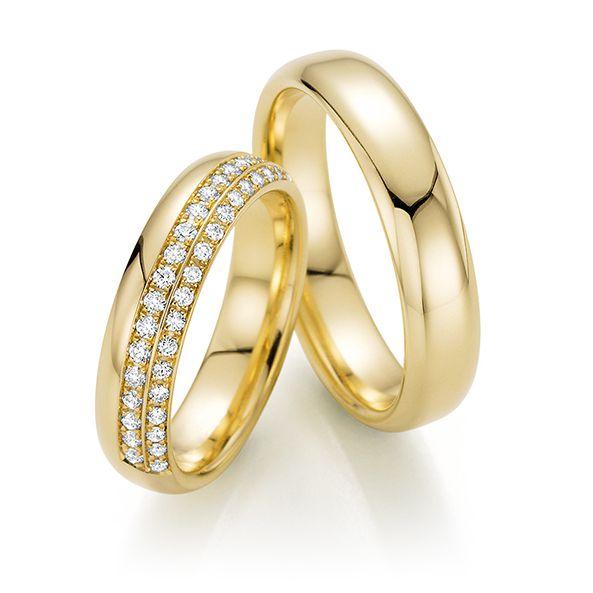 Par de alianças  em ouro 18k e diamantes - CÓDIGO - ALI37