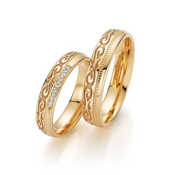 Par de alianças  em ouro 18k e diamantes - CÓDIGO - ALI39