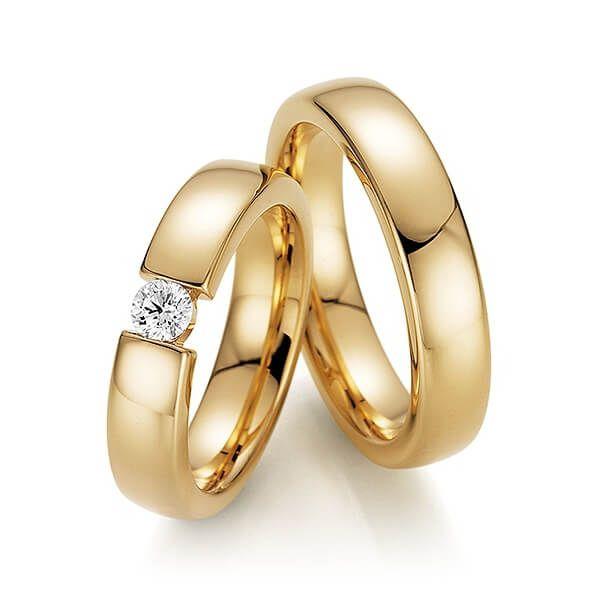 Par de alianças  em ouro 18k e diamantes - CÓDIGO - ALI45