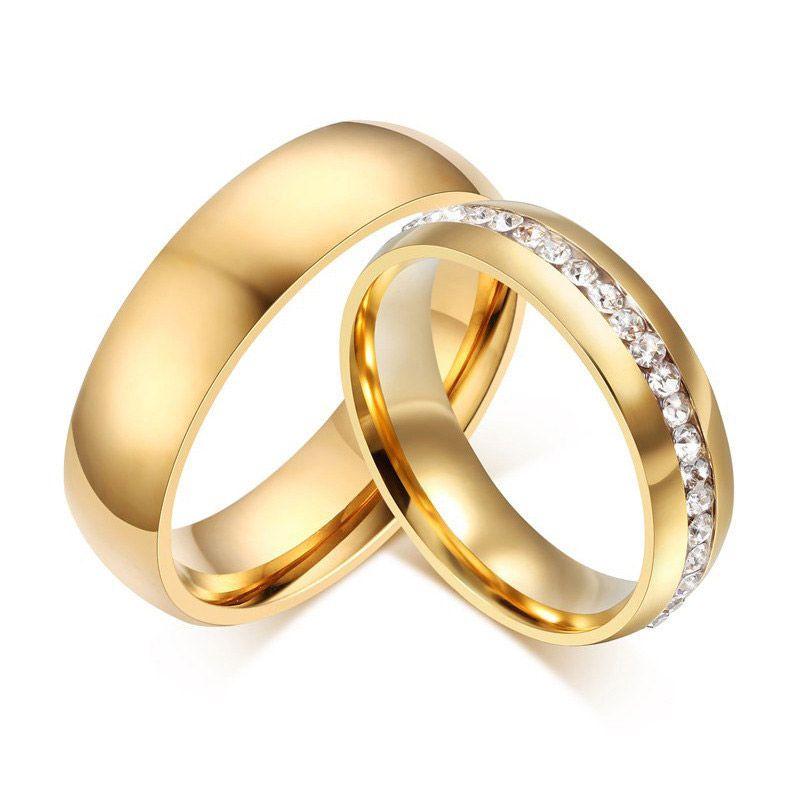 Par de alianças GIRATORIA  em ouro 18k e diamantes - CÓDIGO - ALI34