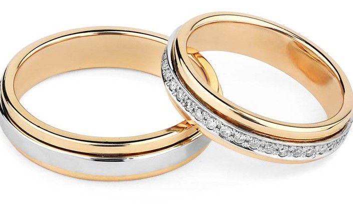 Par de alianças GIRATORIA  em ouro 18k e diamantes - CÓDIGO - ALI3