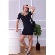 Vestido tubinho midi preto