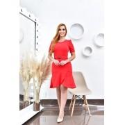 Vestido vermelho transpassado