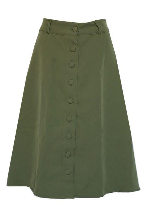 Saia Evasê verde militar
