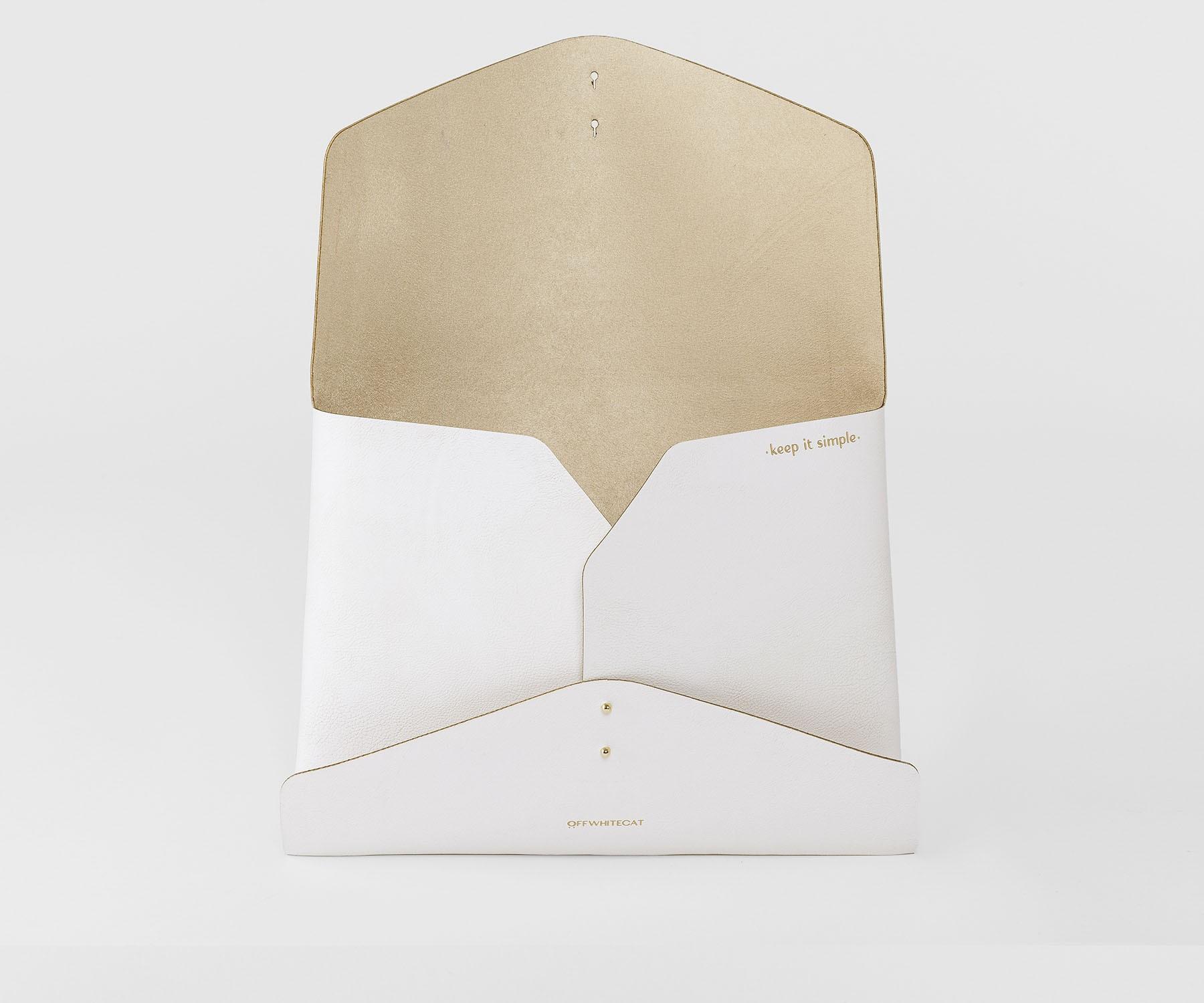 Bolsa Clutch 'Kim' Off White