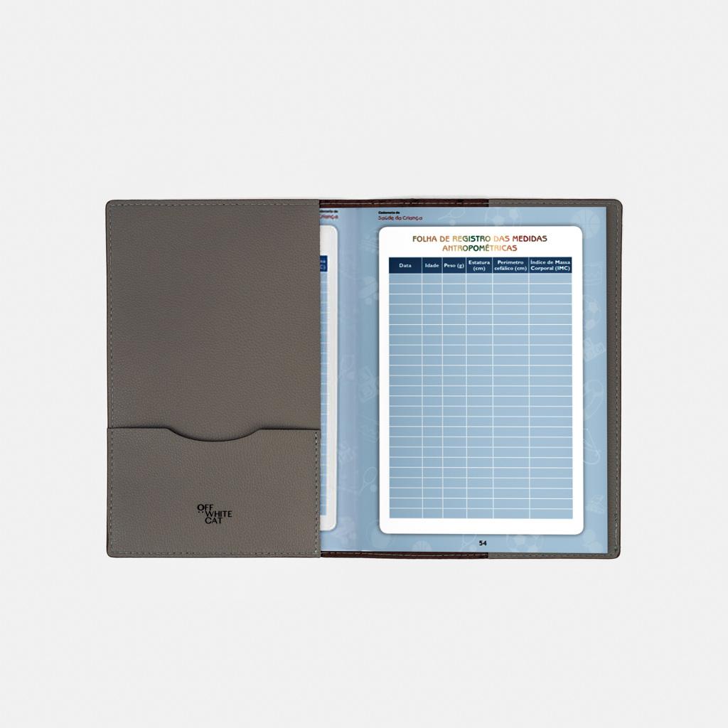 Capa Caderneta de Saúde 'Juno' Grey