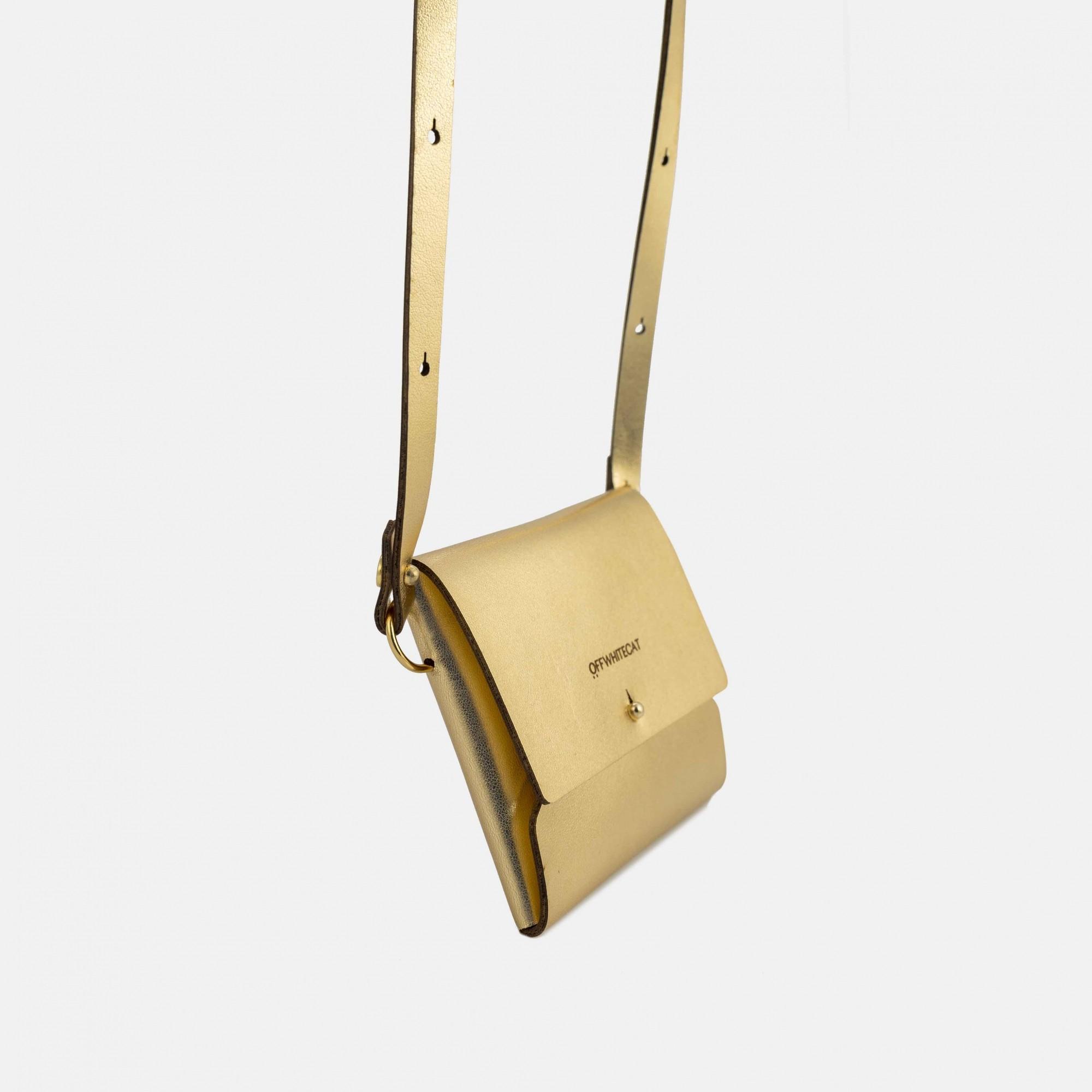 Micro Bag 'Cora' Dourada