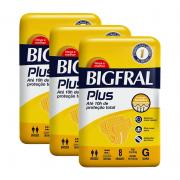 KIT 3 PACOTES DE FRALDA BIGFRAL PLUS G COM 8un