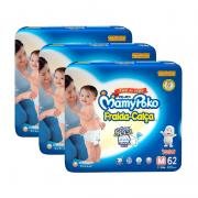 KIT 3 PACOTES DE FRALDA MAMYPOKO CALÇA COM 62 un TAMANHO M