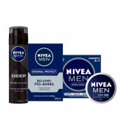 Kit Nivea Men - Espuma de Barbear + Pós Barba + Creme Nivea Men + Sabonete em Barra Nivea Men Original