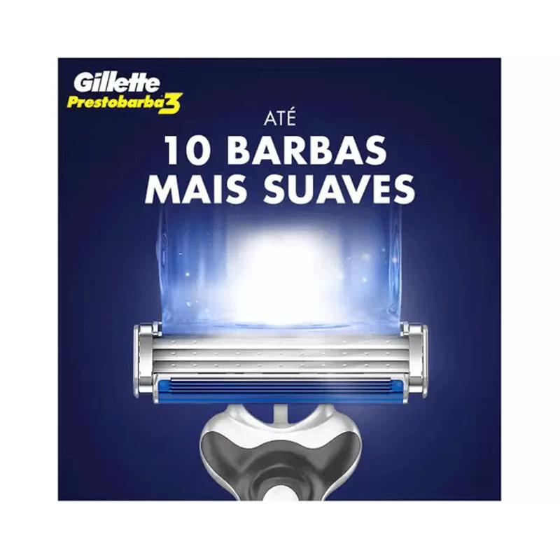 APARELHO DE BARBEAR GILLETTE PRESTOBARBA COM 4 UNIDADES - 4750