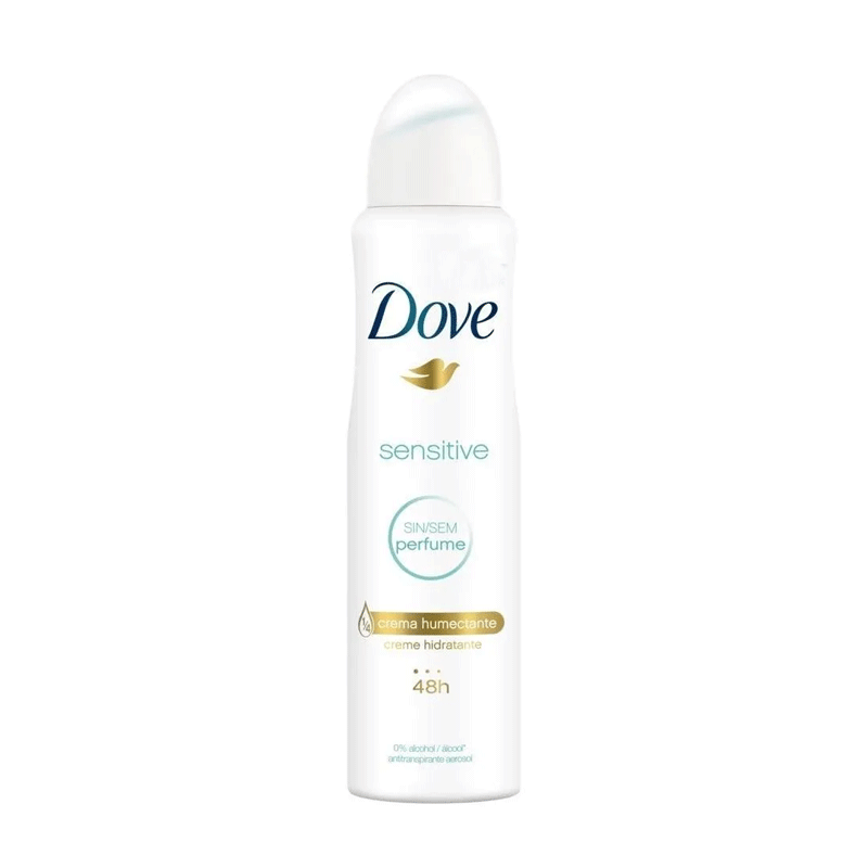 DESODORANTE FEMININO DOVE SENSITIVE SEM PERFUME 150ml - 3273