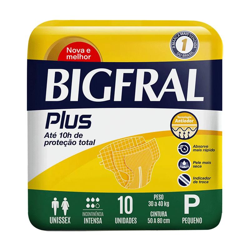 FRALDA ADULTO BIGFRAL PLUS TAMANHO P 10 unidades