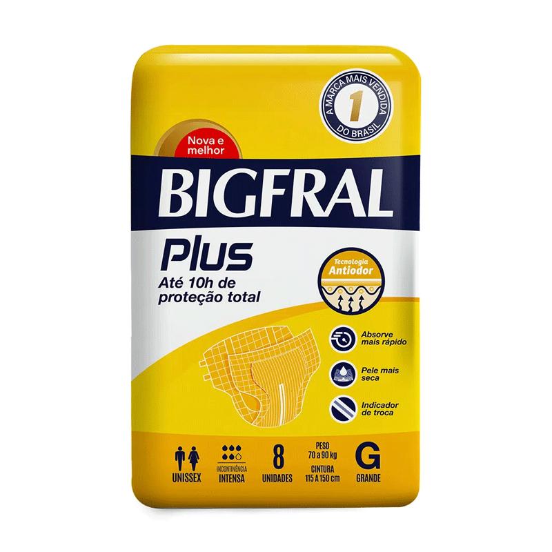 FRALDA ADULTO BIGFRAL PLUS TAMANHO G 08 unidades