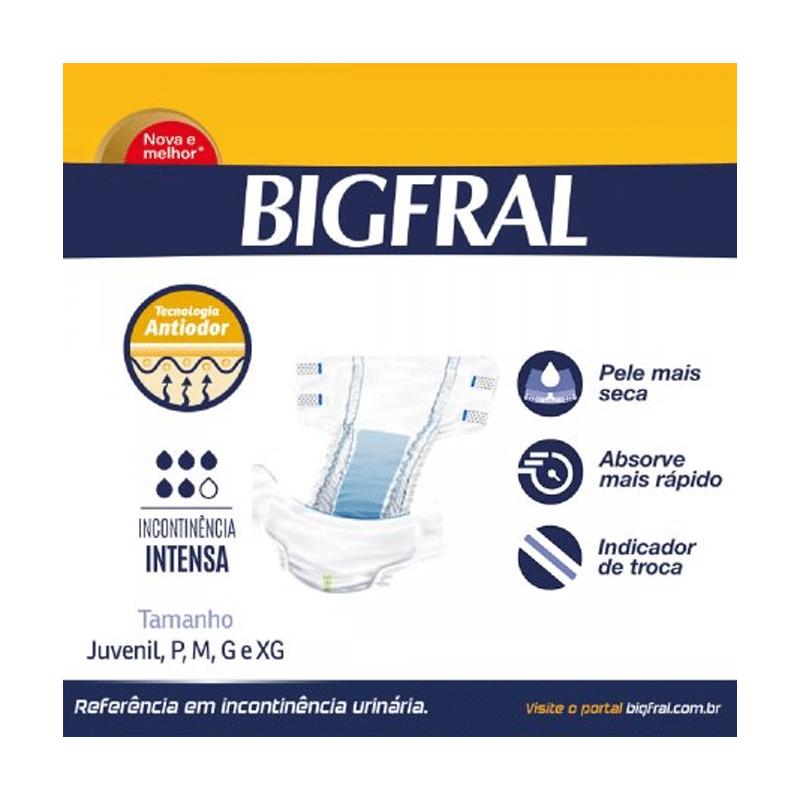 FRALDA ADULTO BIGFRAL PLUS TAMANHO M 09 unidades