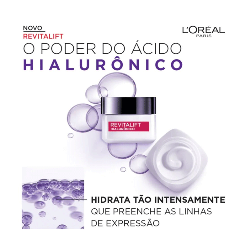 HIDRATANTE FACIAL L´OREAL REVITALIFT HIALURÔNICO DIURNO FPS 20 - 1601