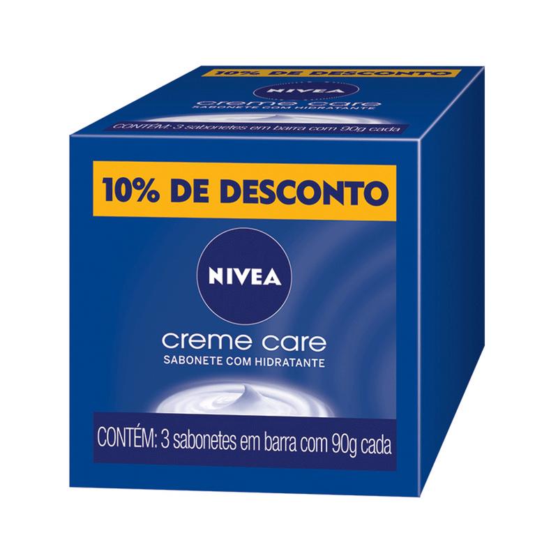 KIT NIVEA 3 SABONETES EM BARRA CREME CARE 90g - 2831