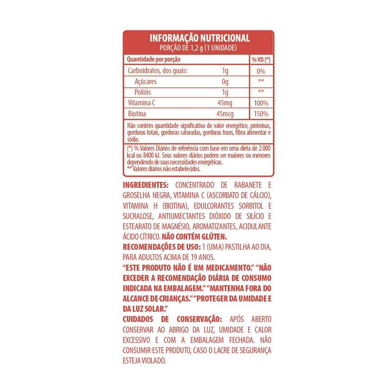 VITAMINA HAIR NAIL AND SKIN BELT LIMONADA COM MORANGOS - 9696