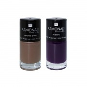 Kit Esmalte cremoso Chocolate quente + Blueberry 10ml