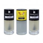 Kit Esmalte Ramona Cosméticos Base Cetim+ Base Fosca+ Titanium 10ml