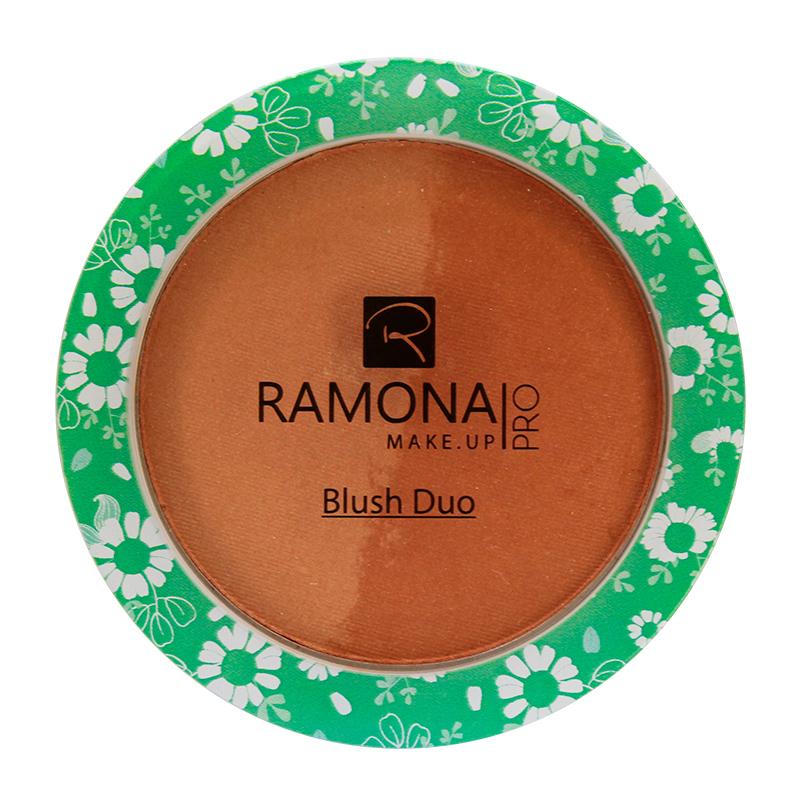 Blush Duo Ramona Cosméticos Nº2 Marrom/Marrom Opaco 10g