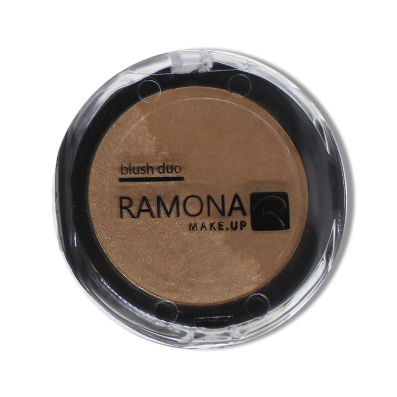 Blush Duo Ramona Cosméticos Nº5 Marrom/Bronze 10g
