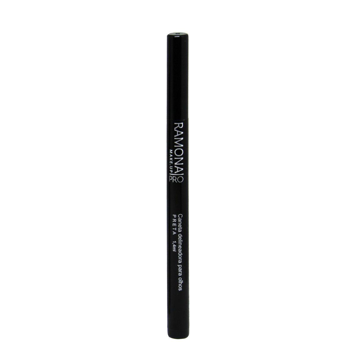 Caneta Delineadora Ramona Cosméticos Carbon Black 1,4ml