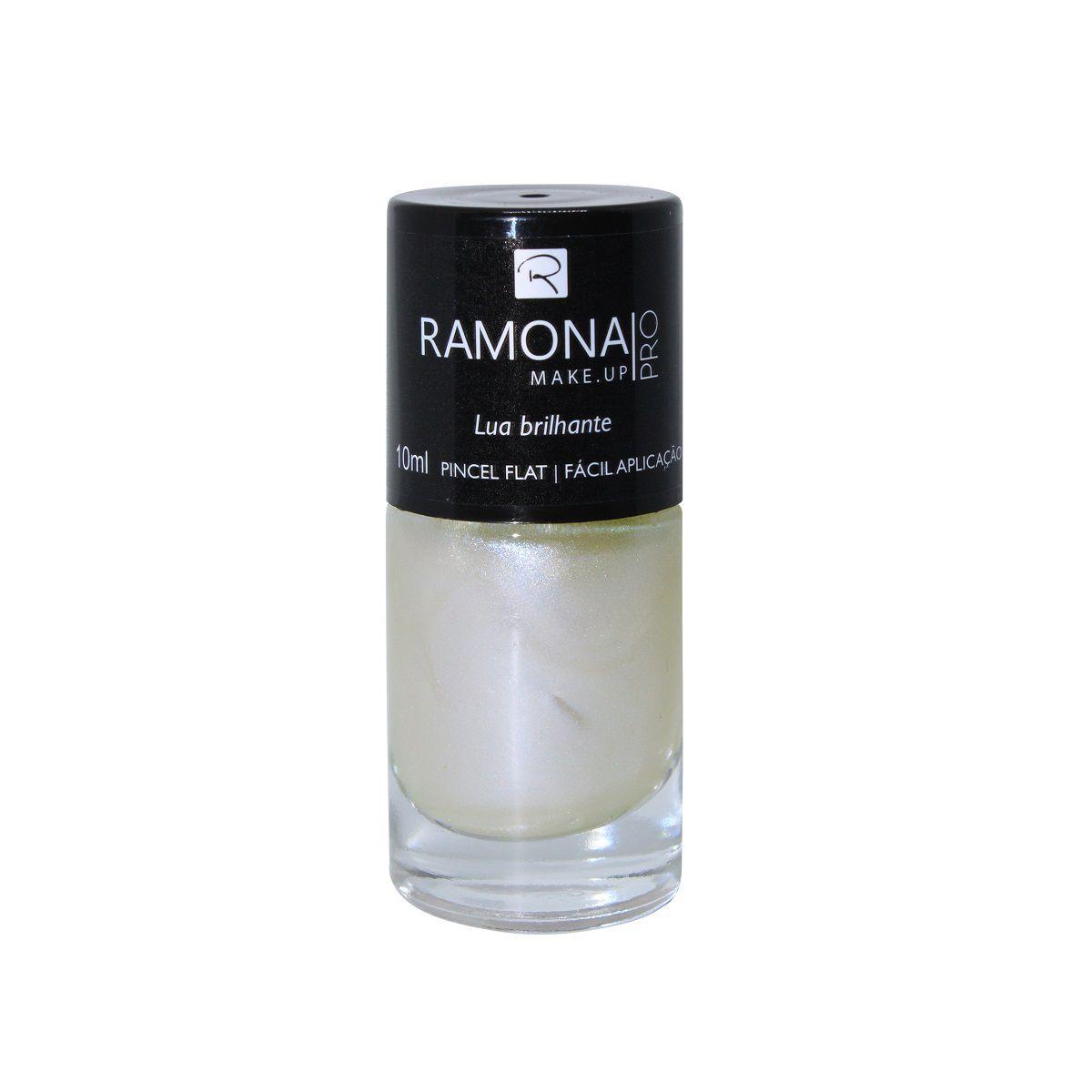 Esmalte cintilante Ramona Cosméticos Lua brilhante 10ml