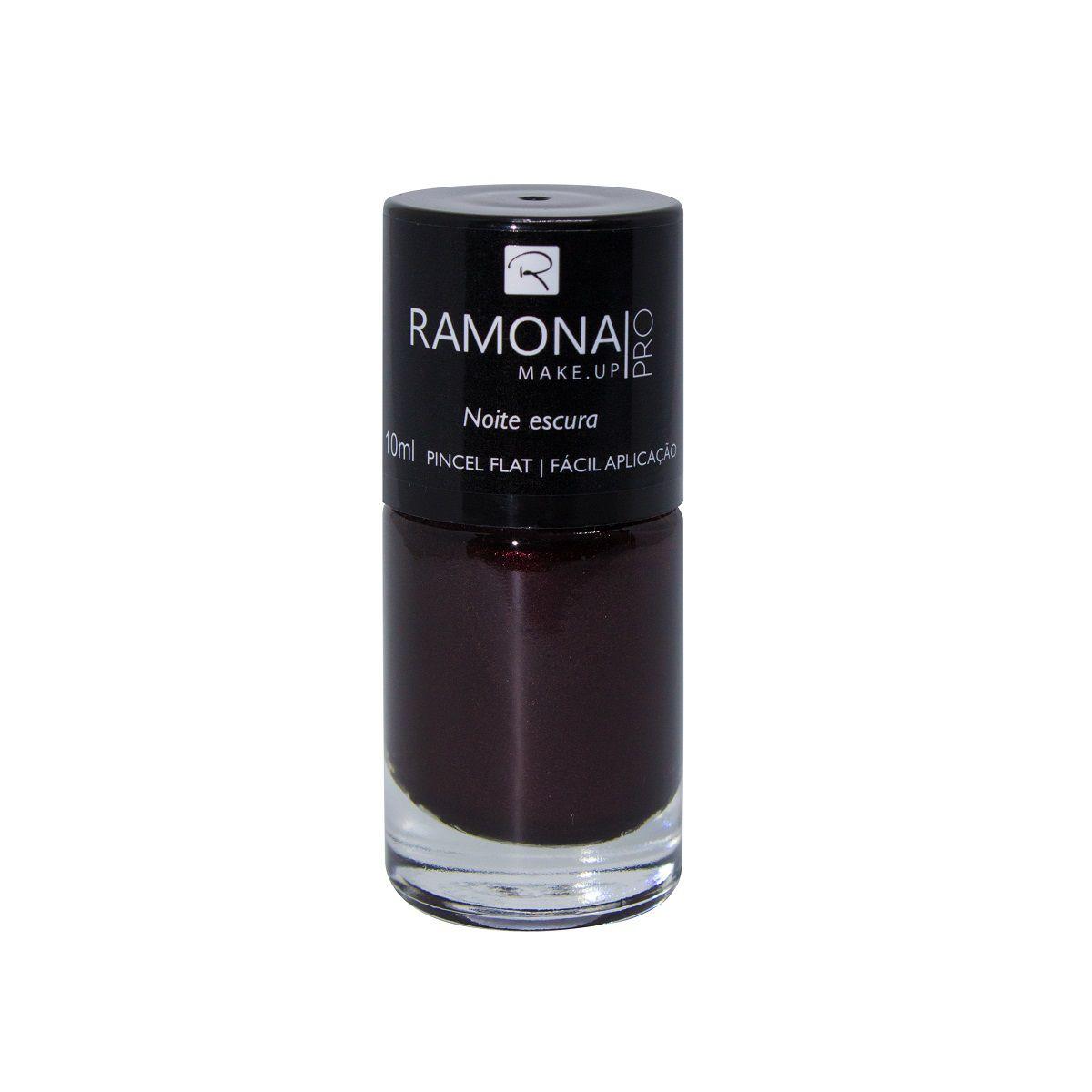 Esmalte cintilante Ramona Cosméticos Noite escura 10ml