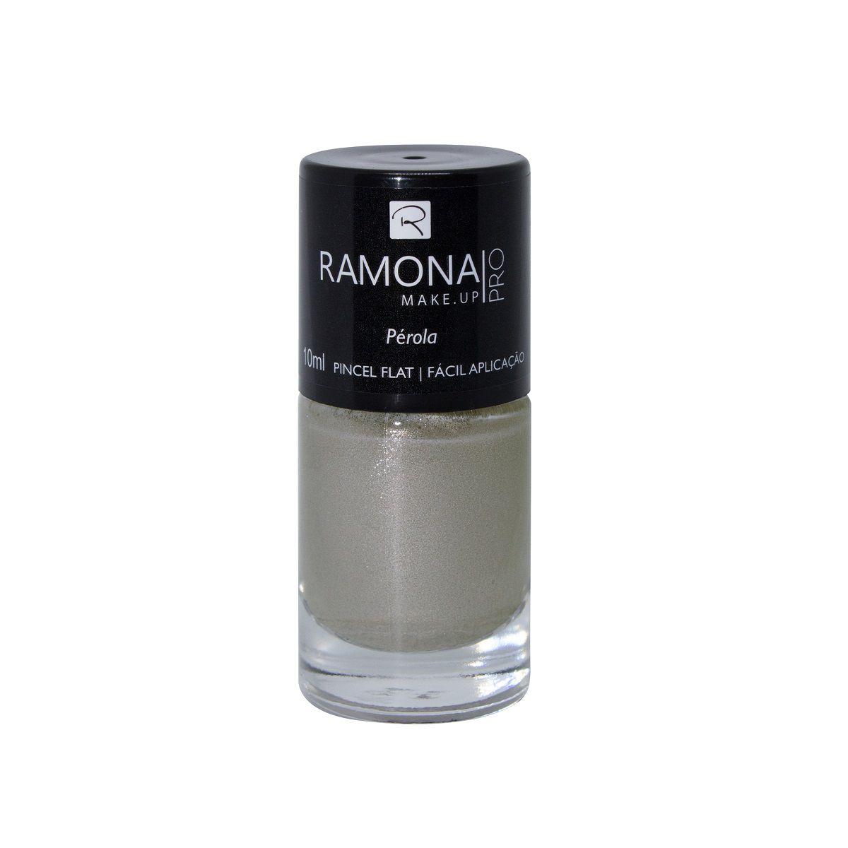 Esmalte cintilante Ramona Cosméticos Pérola 10ml