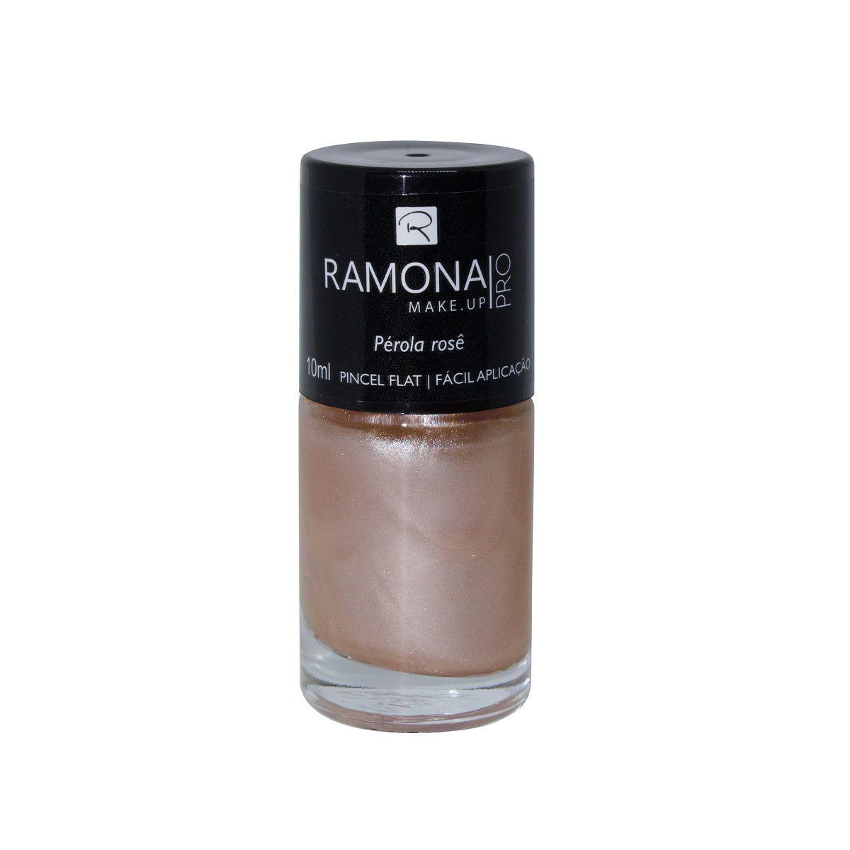 Esmalte cintilante Ramona Cosméticos Pérola Rose 10ml