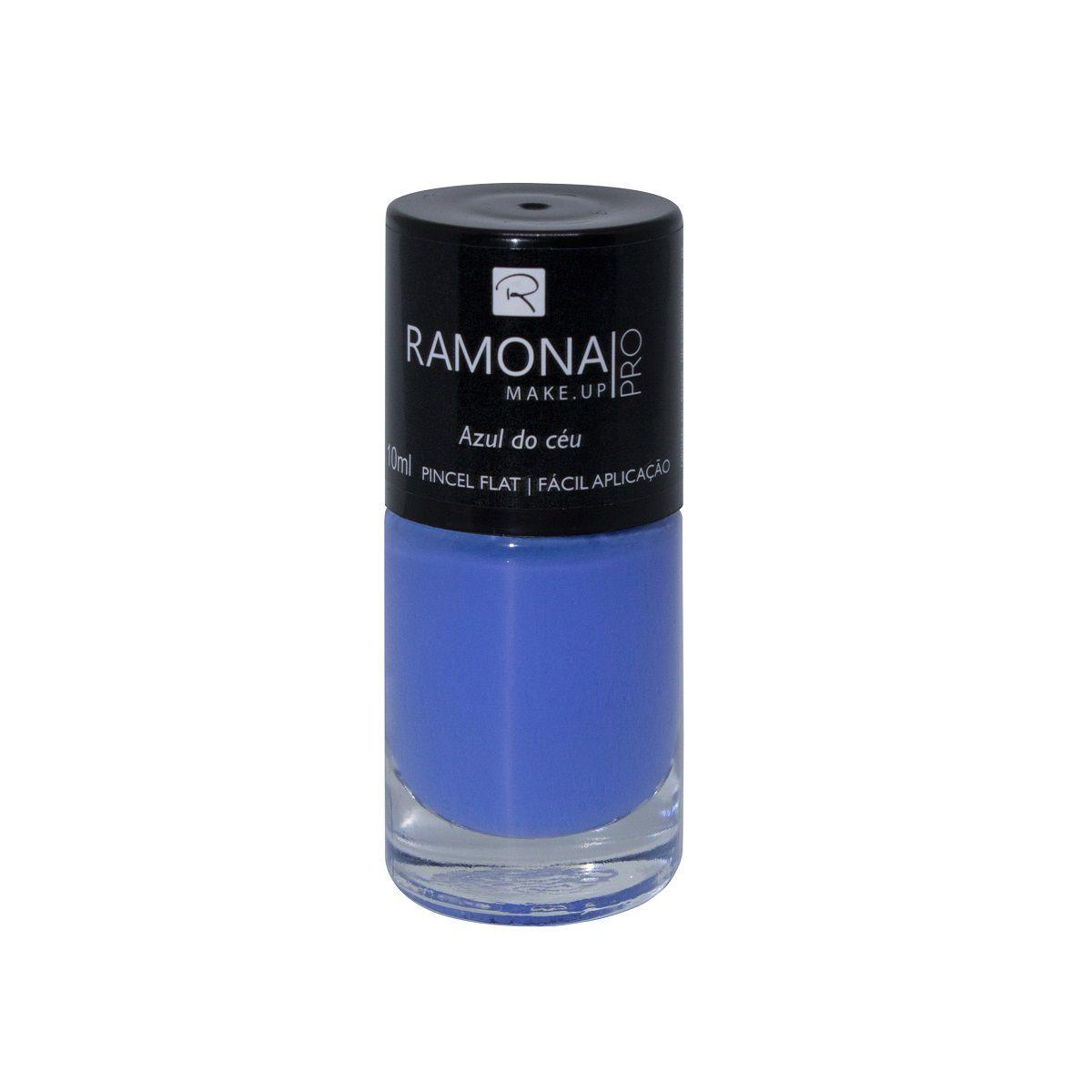 Esmalte cremoso Ramona Cosméticos Azul do céu 10ml